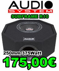 Audio System Subframe R10 250mm 375Watt 175 Euro