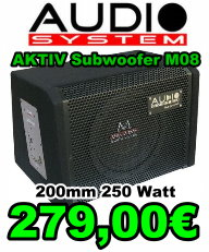 Audio System Active Subwoofer M08 200mm 250Watt 279 Euro